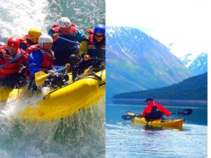 Major difference between kayaking and rafting