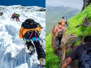 Major difference between trekking and Mountaineering